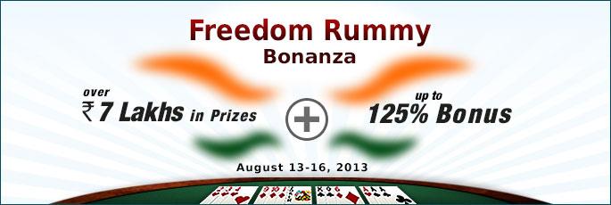 Freedom Rummy Bonanza - RummyCircle.com