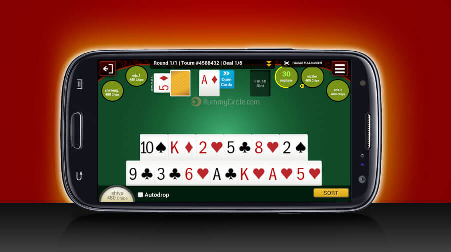 Play Rummy on Mobile App
