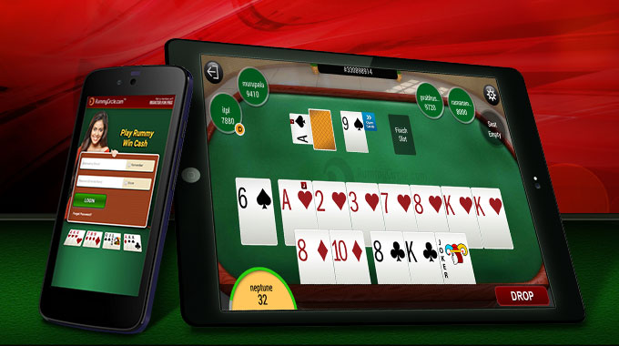 playing Rummy on Mobiles