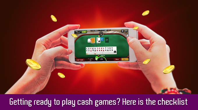 Getting Ready To Play Cash Games? Here Is A Checklist