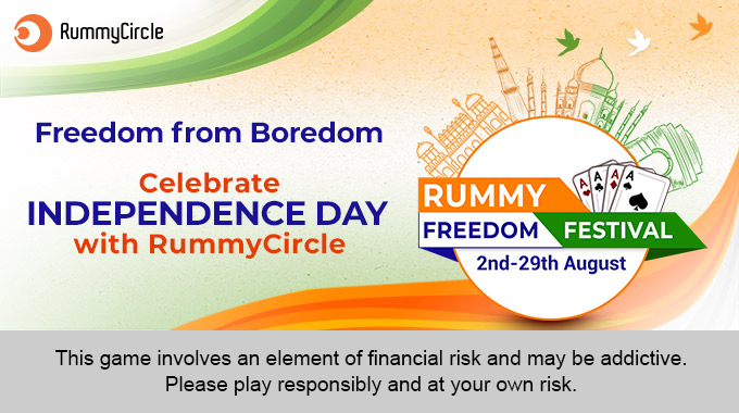 Freedom from Boredom - Celebrate Independence Day with RummyCircle